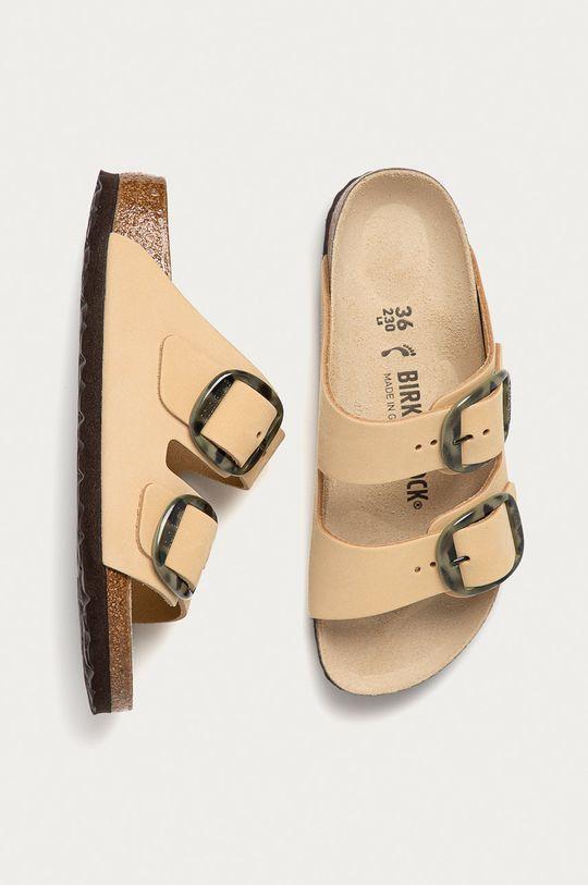 béžová Birkenstock - Kožené pantofle Arizona