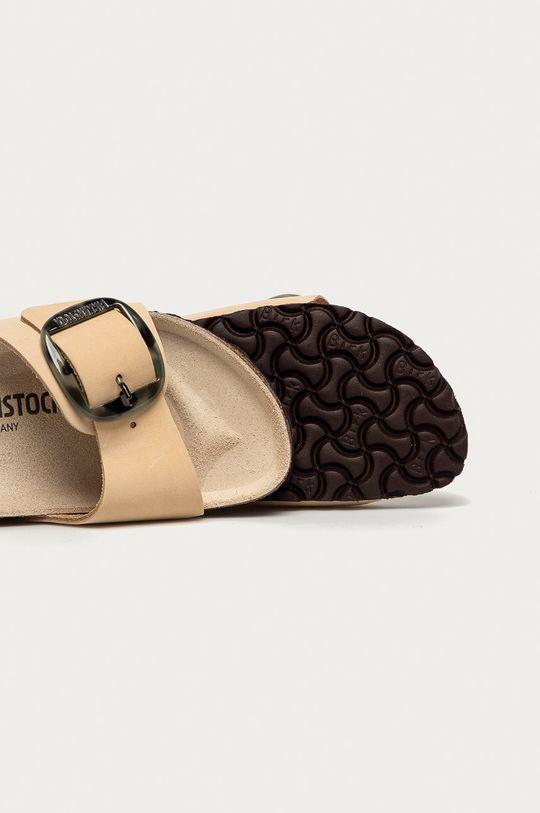 béžová Birkenstock - Semišové pantofle Madrid Big Buckle