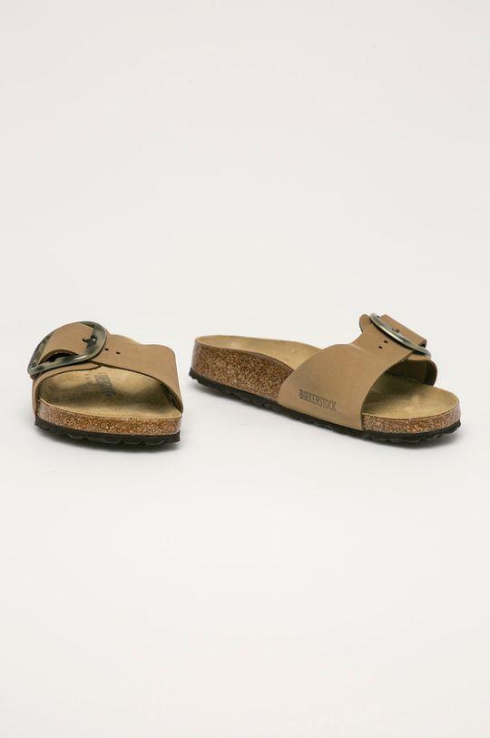 Birkenstock - Semišové pantofle Madrid okrová