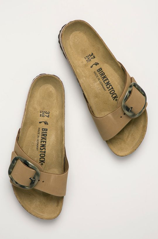 okrová Birkenstock - Semišové pantofle Madrid