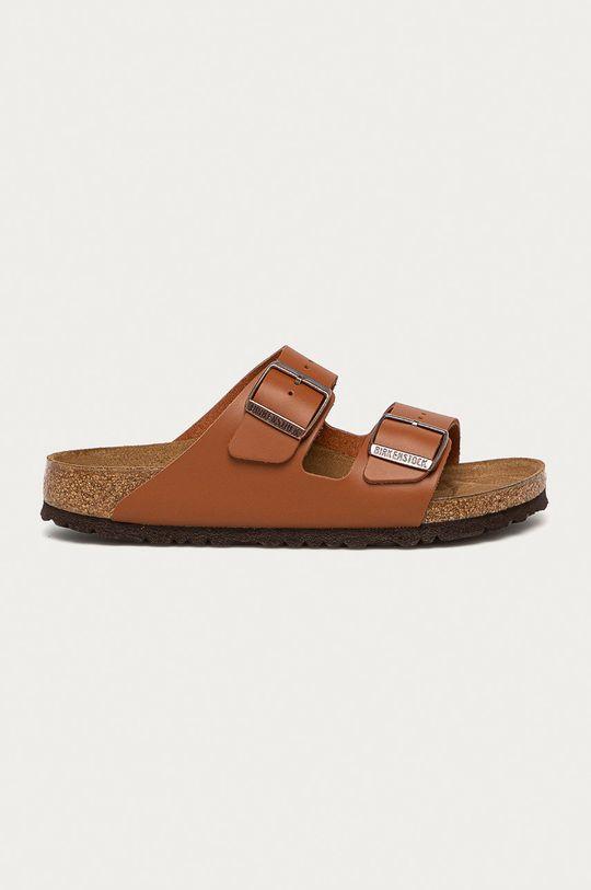 brązowy Birkenstock - Klapki skórzane Arizona Damski