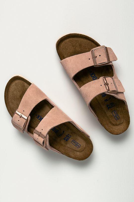 Birkenstock - Papuci din piele Arizona roz