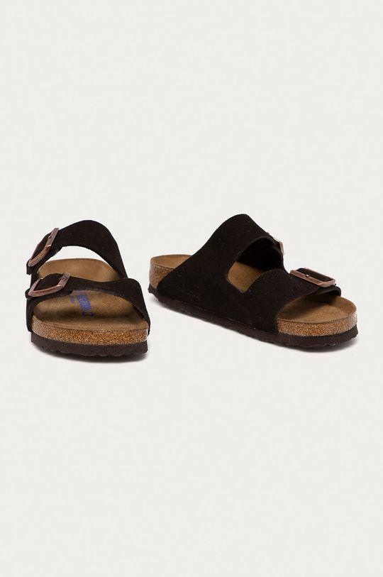 Birkenstock - Semišové pantofle Arizona hnědá