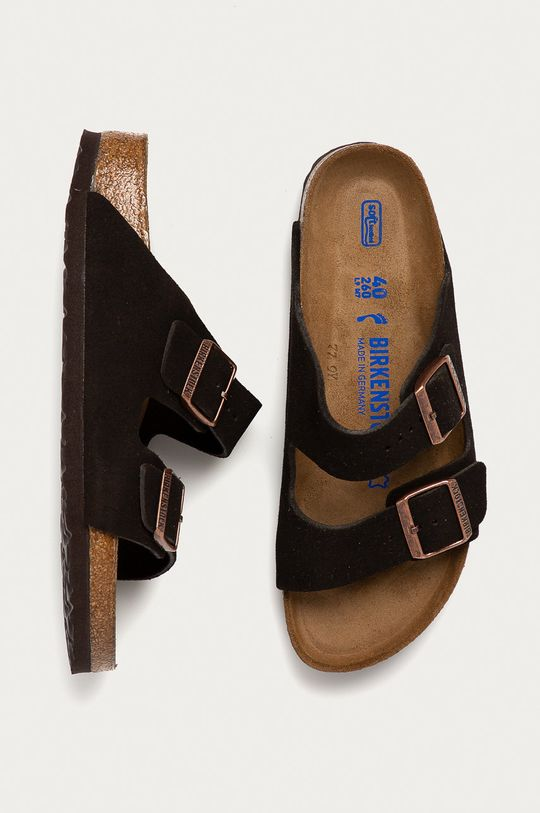 hnědá Birkenstock - Semišové pantofle Arizona