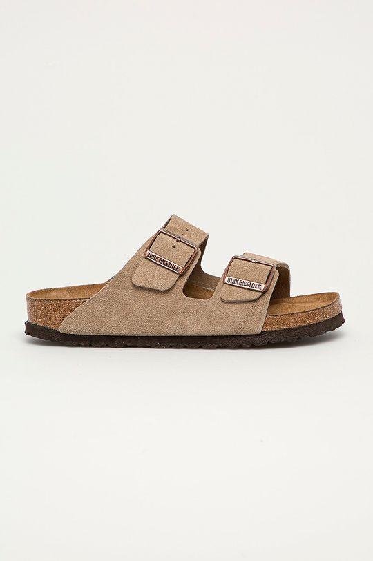 béžová Birkenstock - Semišové pantofle Arizona Dámský