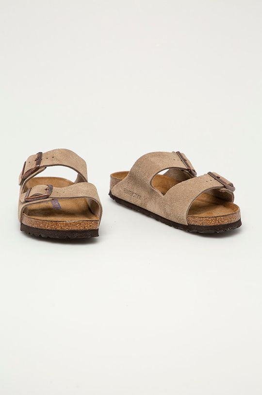 Birkenstock - Semišové pantofle Arizona béžová