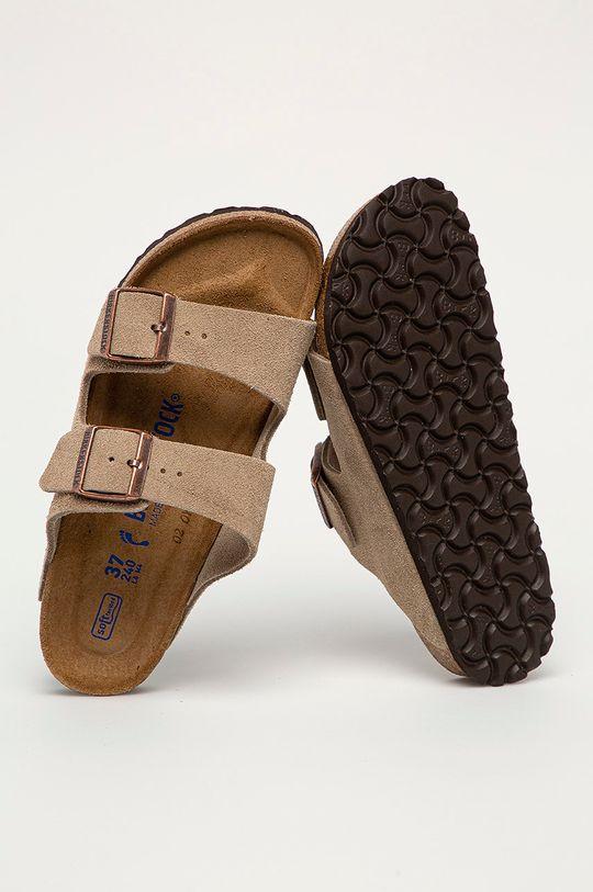 béžová Birkenstock - Semišové pantofle Arizona