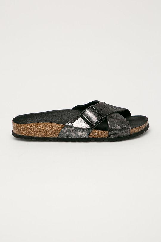 šedá Birkenstock - Semišové pantofle Siena Dámský