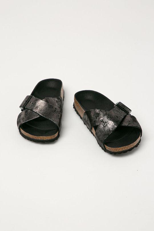 Birkenstock - Semišové pantofle Siena šedá