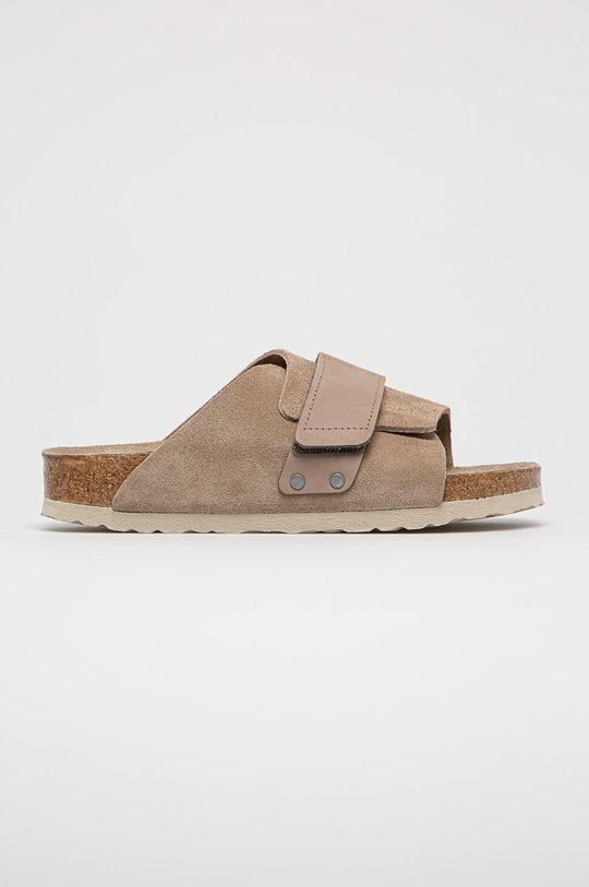 hnědá Birkenstock - Semišové pantofle Kyoto SFB Dámský