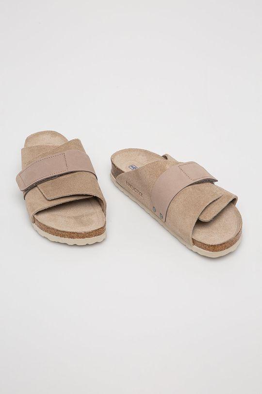 Birkenstock - Semišové pantofle Kyoto SFB hnědá