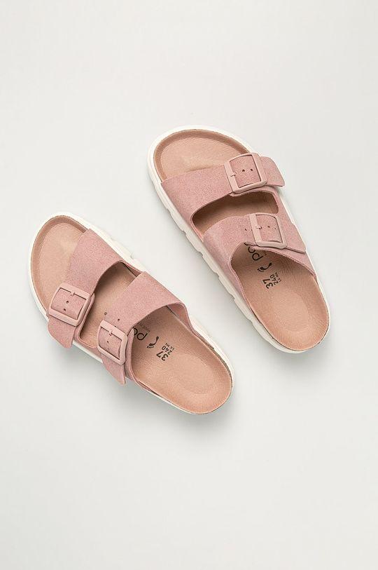 Birkenstock - Semišové pantofle Arizona VL růžová