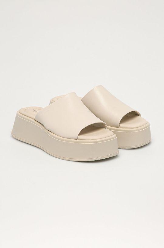 Vagabond - Kožené pantofle Cleo smetanová