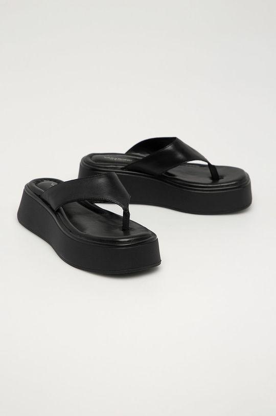 Vagabond - Kožené žabky Courtney černá