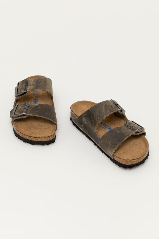 Birkenstock - Kožené pantofle Arizona zelená
