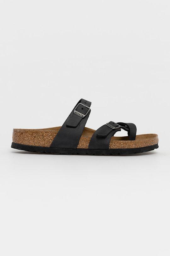 černá Birkenstock - Kožené pantofle Mayari Dámský
