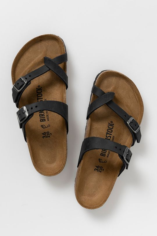 Birkenstock - Kožené pantofle Mayari černá