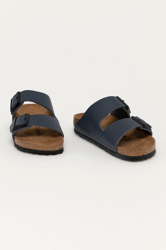 Birkenstock - Kožené pantofle Arizona námořnická modř