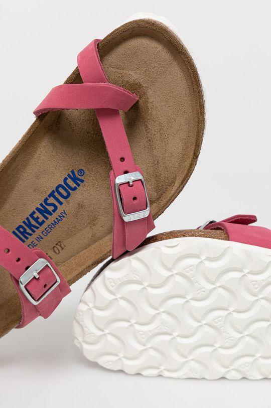 różowy Birkenstock - Klapki zamszowe Mayari