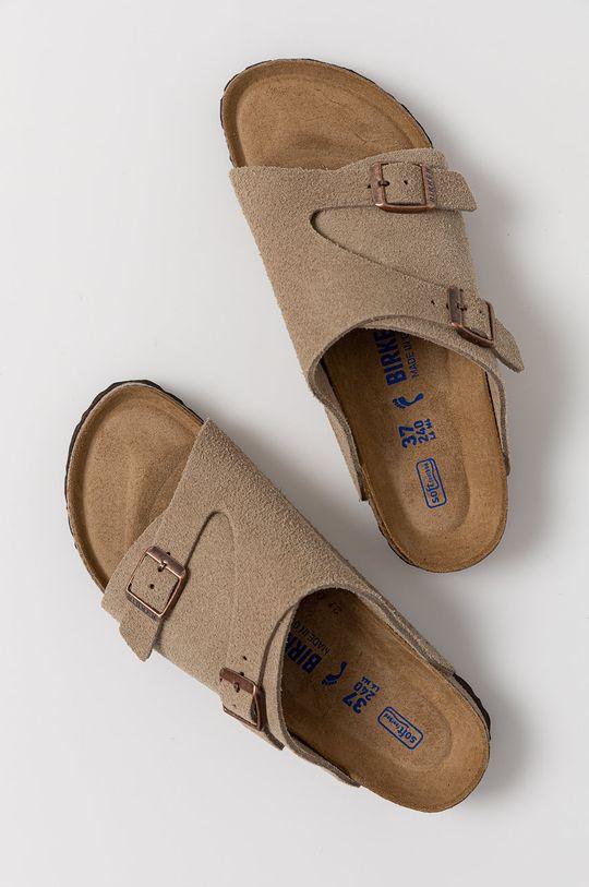 Birkenstock - Semišové pantofle Zürich Dámský