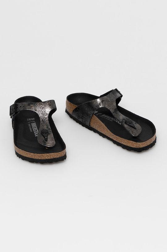 Birkenstock - Kožené žabky Gizeh černá
