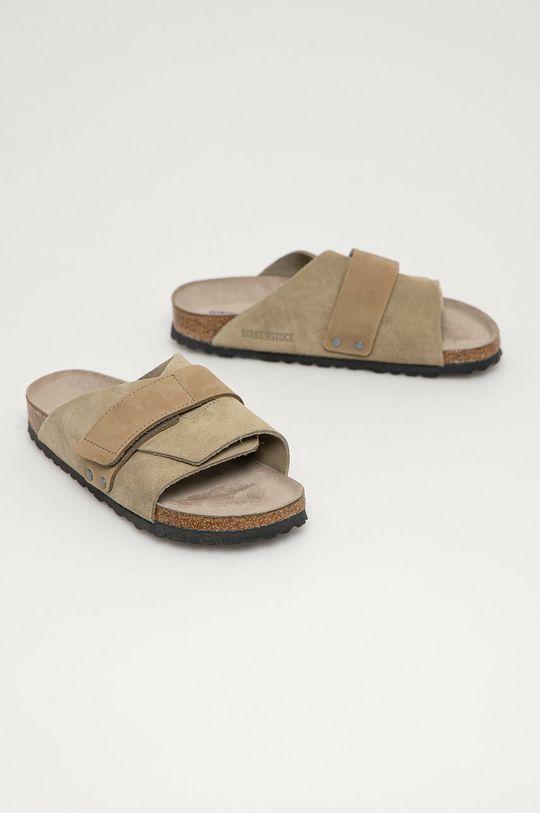 Birkenstock - Semišové pantofle Kyoto zelená
