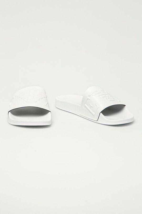 Emporio Armani - Pantofle bílá