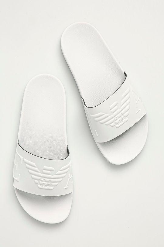 bílá Emporio Armani - Pantofle