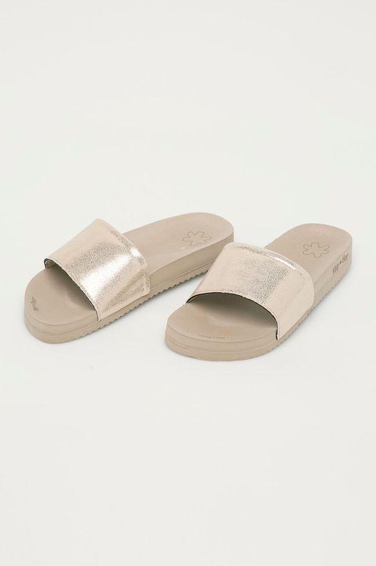 Flip*Flop - Šľapky Metallic cracked béžová
