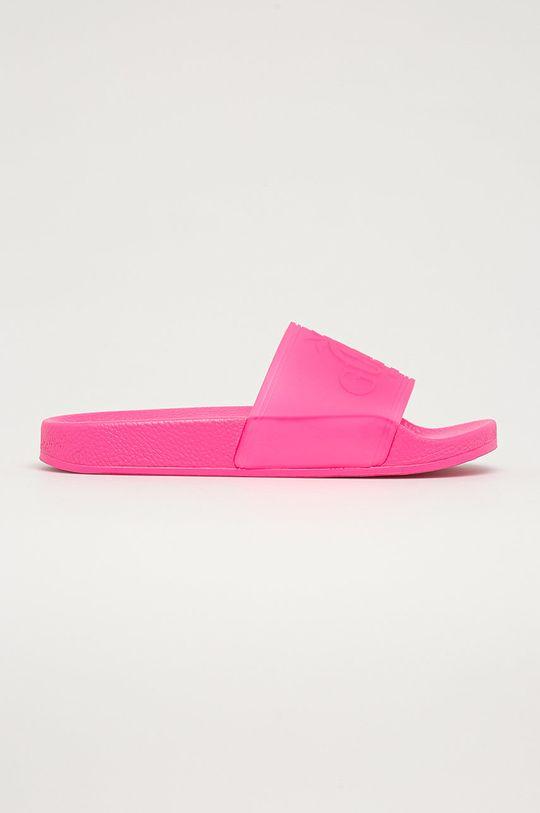 Guess - Pantofle ostrá růžová