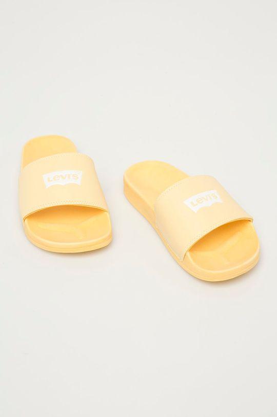 Levi's - Pantofle jasně žlutá