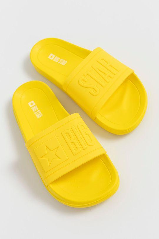 Big Star - Klapki żółty