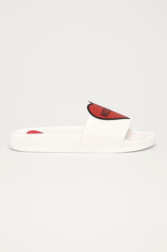 biały Love Moschino - Klapki Damski