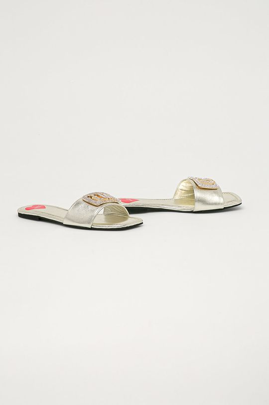 Love Moschino - Pantofle stříbrná