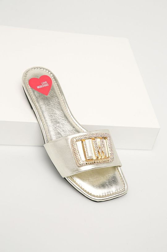 stříbrná Love Moschino - Pantofle