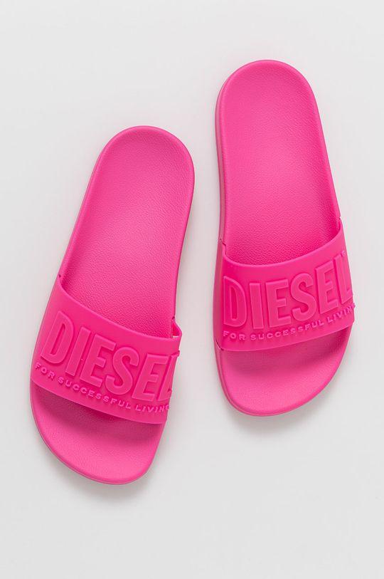 Diesel - Pantofle ostrá růžová