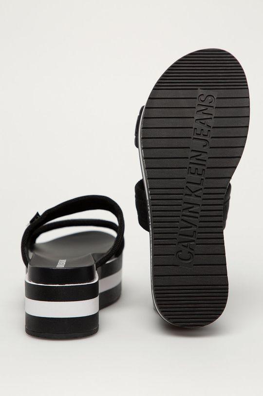 Calvin Klein Jeans - Pantofle  Svršek: Textilní materiál Vnitřek: Umělá hmota Podrážka: Umělá hmota