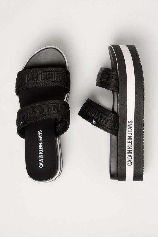 černá Calvin Klein Jeans - Pantofle
