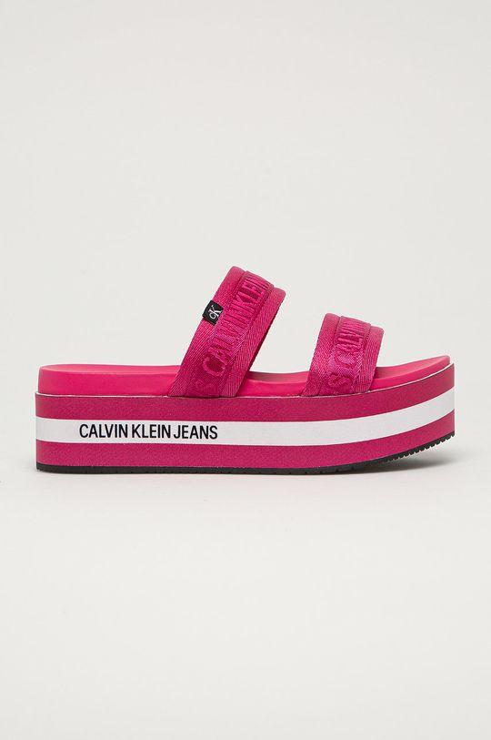 roz Calvin Klein Jeans - Papuci De femei