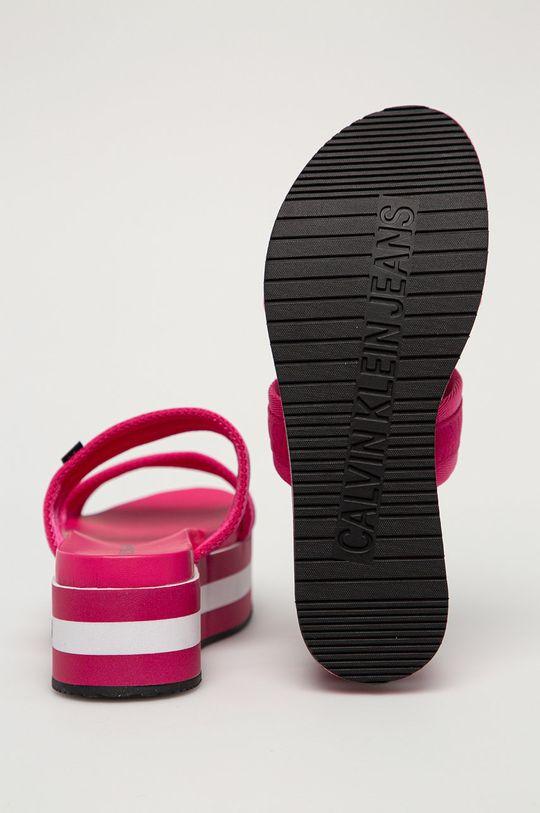 Calvin Klein Jeans - Papuci  Gamba: Material textil Interiorul: Material sintetic Talpa: Material sintetic