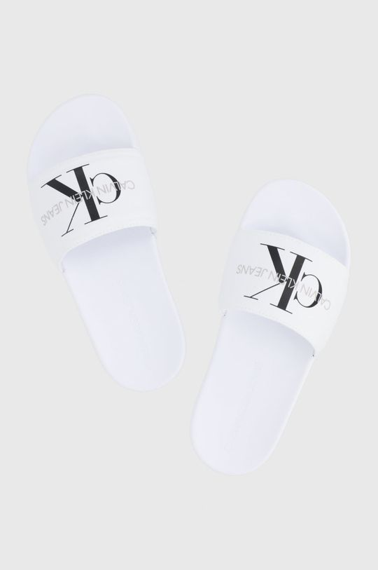 Calvin Klein Jeans - Pantofle bílá