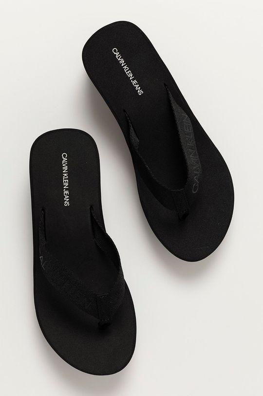 czarny Calvin Klein Jeans - Japonki