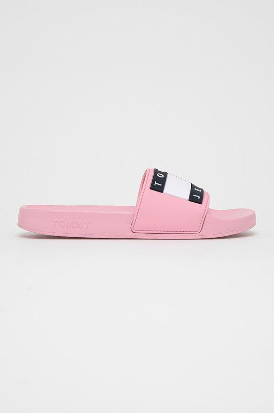 růžová Tommy Jeans - Pantofle Dámský