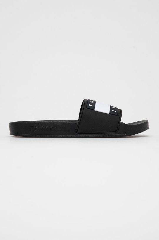 čierna Tommy Jeans - Šľapky Dámsky