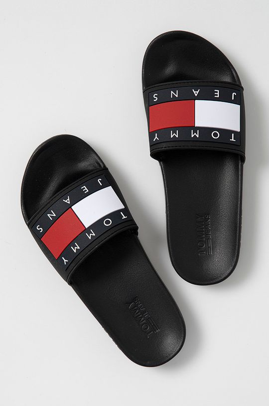 Tommy Jeans - Šľapky čierna