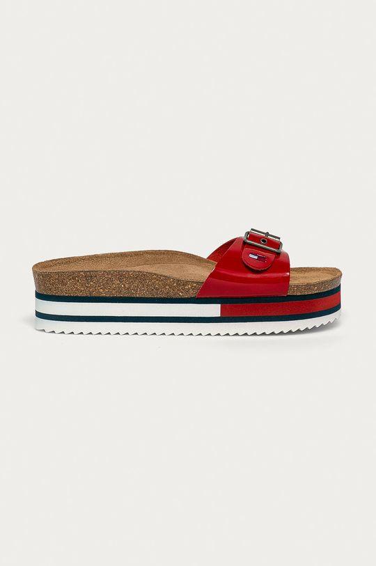 červená Tommy Jeans - Šľapky Dámsky