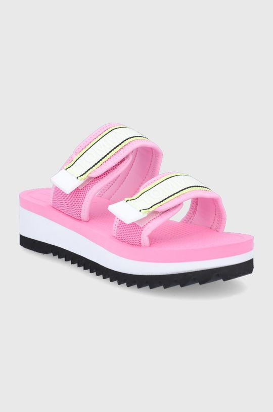 Tommy Jeans - Sandále ružová