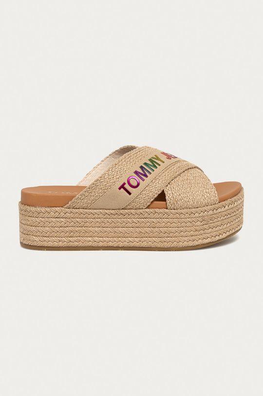 béžová Tommy Jeans - Pantofle Dámský