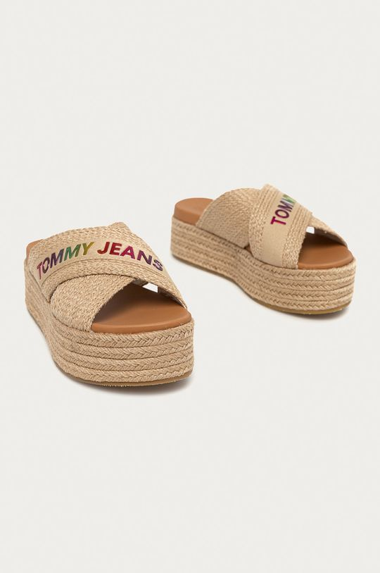 Tommy Jeans - Pantofle béžová