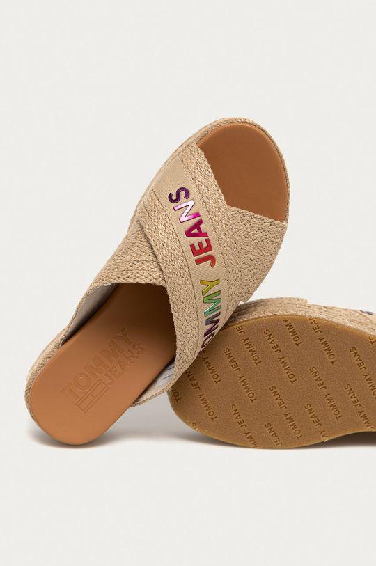 béžová Tommy Jeans - Pantofle